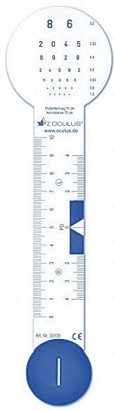 Bild eines PD-Maßstab. Bild: OCULUS