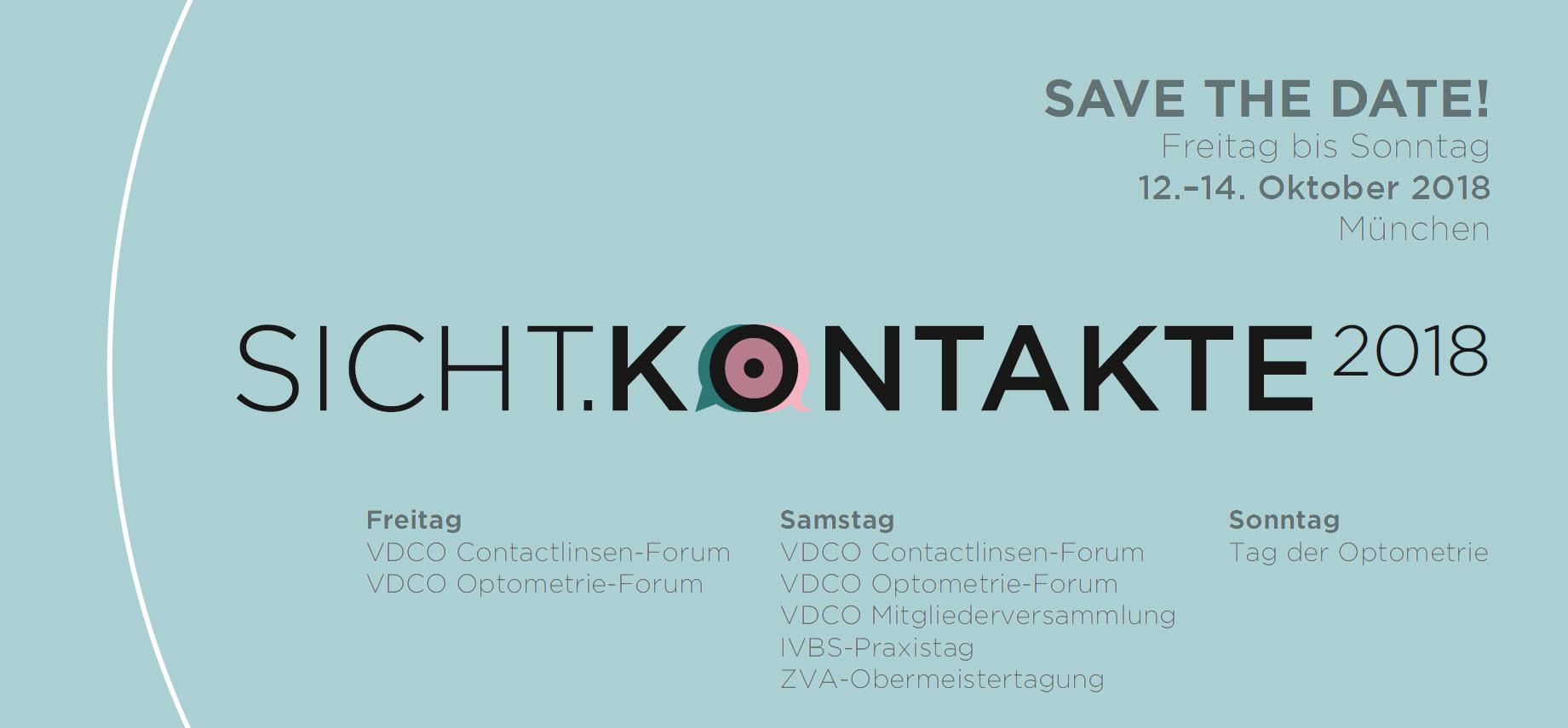 DDer Tag der Optometrie wird im Rahmen der Sichtkontakte 2018 durchgeführt