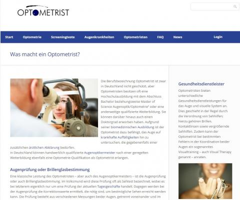 Screenshot von www.optometrist.de